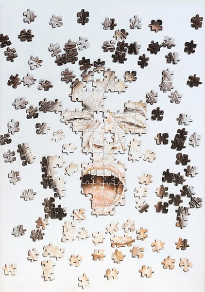 personality disturb represented with a puzzle