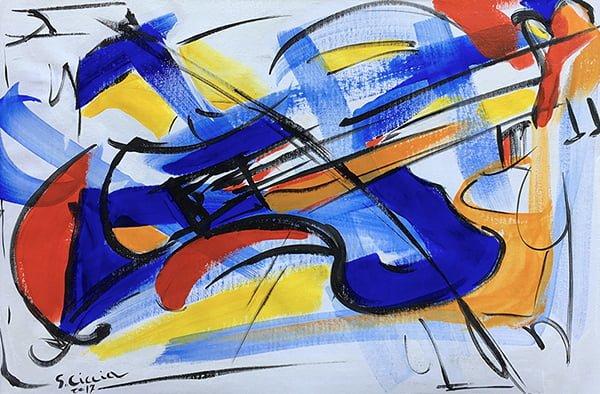 Musica astratta con colori primari