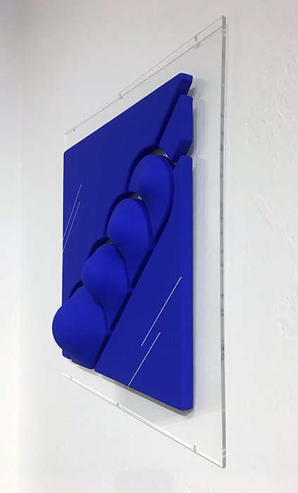 Blue shaped canvas