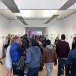 Folla in galleria per inaugurazione