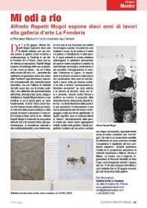 Articolo sulla mostra sul mensile La Toscana nuova